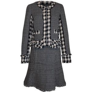 Tory Burch Jayla Houndstooth Tweed Skirt Suit